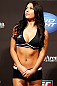 SEATTLE, WA - DECEMBER 07:  UFC Octagon Girl Arianny Celeste stands on stage during the official UFC on FOX weigh in on December 7, 2012 at Key Arena in Seattle, Washington.  (Photo by Josh Hedges/Zuffa LLC/Zuffa LLC via Getty Images)
