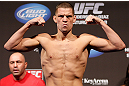 SEATTLE, WA - DECEMBER 07:  Nate Diaz weighs in during the official UFC on FOX weigh in on December 7, 2012 at Key Arena in Seattle, Washington.  (Photo by Josh Hedges/Zuffa LLC/Zuffa LLC via Getty Images)