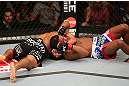 SEATTLE, WA - DECEMBER 08:  Abel Trujillo (L) attempts to submit Marcus LeVesseur during their lightweight bout at the UFC on FOX event on December 8, 2012  at Key Arena in Seattle, Washington.  (Photo by Ezra Shaw/Zuffa LLC/Zuffa LLC via Getty Images) *** Local Caption *** Marcus LeVesseur; Abel Trujillo