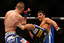 SEATTLE, WA - DECEMBER 08:  (R-L) Ramsey Nijem kicks Joe Proctor during their lightweight bout at the UFC on FOX event on December 8, 2012  at Key Arena in Seattle, Washington.  (Photo by Josh Hedges/Zuffa LLC/Zuffa LLC via Getty Images) *** Local Caption *** Ramsey Nijem; Joe Proctor