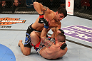 SEATTLE, WA - DECEMBER 08:  Ramsey Nijem (top) elbows Joe Proctor during their lightweight bout at the UFC on FOX event on December 8, 2012  at Key Arena in Seattle, Washington.  (Photo by Ezra Shaw/Zuffa LLC/Zuffa LLC via Getty Images) *** Local Caption *** Ramsey Nijem; Joe Proctor