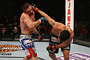 SEATTLE, WA - DECEMBER 08:  (R-L) Ramsey Nijem punches Joe Proctor during their lightweight bout at the UFC on FOX event on December 8, 2012  at Key Arena in Seattle, Washington.  (Photo by Ezra Shaw/Zuffa LLC/Zuffa LLC via Getty Images) *** Local Caption *** Ramsey Nijem; Joe Proctor