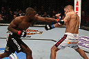 SEATTLE, WA - DECEMBER 08:  (L-R) Yves Edwards punches Jeremy Stephens during their lightweight bout at the UFC on FOX event on December 8, 2012  at Key Arena in Seattle, Washington.  (Photo by Ezra Shaw/Zuffa LLC/Zuffa LLC via Getty Images) *** Local Caption *** Yves Edwards; Jeremy Stephens