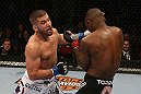 SEATTLE, WA - DECEMBER 08:  (L-R) Jeremy Stephens punches Yves Edwards during their lightweight bout at the UFC on FOX event on December 8, 2012  at Key Arena in Seattle, Washington.  (Photo by Ezra Shaw/Zuffa LLC/Zuffa LLC via Getty Images) *** Local Caption *** Yves Edwards; Jeremy Stephens