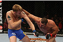 SEATTLE, WA - DECEMBER 08:  (R-L) Mauricio Rua punches Alexander Gustafsson during their light heavyweight bout at the UFC on FOX event on December 8, 2012  at Key Arena in Seattle, Washington.  (Photo by Ezra Shaw/Zuffa LLC/Zuffa LLC via Getty Images) *** Local Caption *** Mauricio Rua; Alexander Gustafsson