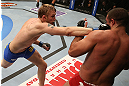 SEATTLE, WA - DECEMBER 08:  Alexander Gustafsson (left) punches Mauricio Rua during their light heavyweight bout at the UFC on FOX event on December 8, 2012  at Key Arena in Seattle, Washington.  (Photo by Ezra Shaw/Zuffa LLC/Zuffa LLC via Getty Images) *** Local Caption *** Mauricio Rua; Alexander Gustafsson