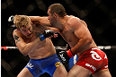 SEATTLE, WA - DECEMBER 08:  (R-L) Mauricio Rua punches Alexander Gustafsson during their light heavyweight bout at the UFC on FOX event on December 8, 2012  at Key Arena in Seattle, Washington.  (Photo by Josh Hedges/Zuffa LLC/Zuffa LLC via Getty Images) *** Local Caption *** Mauricio Rua; Alexander Gustafsson