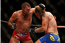 SEATTLE, WA - DECEMBER 08:  (L-R) Mauricio Rua punches Alexander Gustafsson during their light heavyweight bout at the UFC on FOX event on December 8, 2012  at Key Arena in Seattle, Washington.  (Photo by Josh Hedges/Zuffa LLC/Zuffa LLC via Getty Images) *** Local Caption *** Mauricio Rua; Alexander Gustafsson