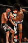 SEATTLE, WA - DECEMBER 08:  Benson Henderson (R) kicks Nate Diaz (L) during their lightweight championship bout at the UFC on FOX event on December 8, 2012  at Key Arena in Seattle, Washington.  (Photo by Josh Hedges/Zuffa LLC/Zuffa LLC via Getty Images) *** Local Caption *** Benson Henderson; Nate Diaz