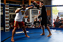 GOLD COAST, AUSTRALIA - DECEMBER 13:  Rousimar Palhares works out for the media during the UFC on FX open workouts on December 13, 2012 at Boonchu Gym in Gold Coast, Australia.  (Photo by Josh Hedges/Zuffa LLC/Zuffa LLC via Getty Images)