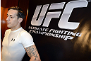 LAS VEGAS, NV - DECEMBER 13:  UFC fighter Mike Ricci speaks to the media during the Ultimate Fighter 16 Finale open workouts at The Joint at the Hard Rock Hotel and Casino on December 13, 2012 in Las Vegas, Nevada.  (Photo by Jeff Bottari/Zuffa LLC/Zuffa LLC)