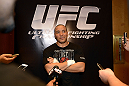 LAS VEGAS, NV - DECEMBER 13:  UFC fighter Pat Barry speaks to the media during the Ultimate Fighter 16 Finale open workouts at The Joint at the Hard Rock Hotel and Casino on December 13, 2012 in Las Vegas, Nevada.  (Photo by Jeff Bottari/Zuffa LLC/Zuffa LLC)