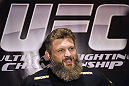 LAS VEGAS, NV - DECEMBER 13:  UFC fighter Roy &#39;Big Country&quot; Nelson speaks to the media during the Ultimate Fighter 16 Finale open workouts at The Joint at the Hard Rock Hotel and Casino on December 13, 2012 in Las Vegas, Nevada.  (Photo by Jeff Bottari/Zuffa LLC/Zuffa LLC)