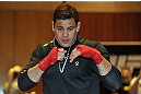 LAS VEGAS, NV - DECEMBER 13:  UFC fighter Shane Del Rosario works out for the media during the Ultimate Fighter 16 Finale open workouts at The Joint at the Hard Rock Hotel and Casino on December 13, 2012 in Las Vegas, Nevada.  (Photo by Jeff Bottari/Zuffa LLC/Zuffa LLC)