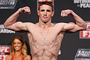 GOLD COAST, AUSTRALIA - DECEMBER 14:  Brendan Loughnane weighs in during the UFC on FX weigh in on December 14, 2012 at Gold Coast Convention and Exhibition Centre in Gold Coast, Queensland, Australia.  (Photo by Josh Hedges/Zuffa LLC/Zuffa LLC via Getty Images)