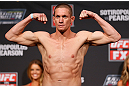 GOLD COAST, AUSTRALIA - DECEMBER 14:  Seth Baczynski weighs in during the UFC on FX weigh in on December 14, 2012 at Gold Coast Convention and Exhibition Centre in Gold Coast, Queensland, Australia.  (Photo by Josh Hedges/Zuffa LLC/Zuffa LLC via Getty Images)