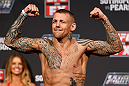 GOLD COAST, AUSTRALIA - DECEMBER 14:  Ross Pearson weighs in during the UFC on FX weigh in on December 14, 2012 at Gold Coast Convention and Exhibition Centre in Gold Coast, Queensland, Australia.  (Photo by Josh Hedges/Zuffa LLC/Zuffa LLC via Getty Images)