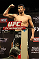 LAS VEGAS, NV - DECEMBER 14:  Rustam Khabilov weighs in during TUF 16 Finale weigh in on December 14, 2012  at the Joint at the Hard Rock in Las Vegas, Nevada.  (Photo by Jim Kemper/Zuffa LLC/Zuffa LLC via Getty Images)