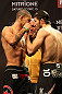 LAS VEGAS, NV - DECEMBER 14:  (L-R) Vinc Pichel and Rustam Khabilov face off during TUF 16 Finale weigh in on December 14, 2012  at the Joint at the Hard Rock in Las Vegas, Nevada.  (Photo by Jim Kemper/Zuffa LLC/Zuffa LLC via Getty Images)