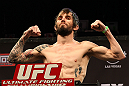 LAS VEGAS, NV - DECEMBER 14:  Johnny Bedford weighs in during TUF 16 Finale weigh in on December 14, 2012  at the Joint at the Hard Rock in Las Vegas, Nevada.  (Photo by Jim Kemper/Zuffa LLC/Zuffa LLC via Getty Images)