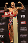 LAS VEGAS, NV - DECEMBER 14:  Dustin Poirier poses on the scale during TUF 16 Finale weigh in on December 14, 2012  at the Joint at the Hard Rock in Las Vegas, Nevada.  (Photo by Jim Kemper/Zuffa LLC/Zuffa LLC via Getty Images)