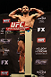 LAS VEGAS, NV - DECEMBER 14:  Jamie Varner stands on the scale during TUF 16 Finale weigh in on December 14, 2012  at the Joint at the Hard Rock in Las Vegas, Nevada.  (Photo by Jim Kemper/Zuffa LLC/Zuffa LLC via Getty Images)