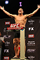 LAS VEGAS, NV - DECEMBER 14:  Shane Del Rosario poses on the scale during TUF 16 Finale weigh in on December 14, 2012  at the Joint at the Hard Rock in Las Vegas, Nevada.  (Photo by Jim Kemper/Zuffa LLC/Zuffa LLC via Getty Images)