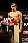 LAS VEGAS, NV - DECEMBER 14:  Mike Ricci weighs in during TUF 16 Finale weigh in on December 14, 2012  at the Joint at the Hard Rock in Las Vegas, Nevada.  (Photo by Jim Kemper/Zuffa LLC/Zuffa LLC via Getty Images)