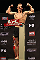 LAS VEGAS, NV - DECEMBER 14:  Colton Smith stands on the scale during TUF 16 Finale weigh in on December 14, 2012  at the Joint at the Hard Rock in Las Vegas, Nevada.  (Photo by Jim Kemper/Zuffa LLC/Zuffa LLC via Getty Images)