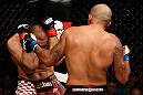 GOLD COAST, AUSTRALIA - DECEMBER 15:  (R-L) Joey Beltran punches Igor Pokrajac during their light heavyweight fight at the UFC on FX event on December 15, 2012  at Gold Coast Convention and Exhibition Centre in Gold Coast, Australia.  (Photo by Josh Hedges/Zuffa LLC/Zuffa LLC via Getty Images)