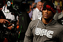 GOLD COAST, AUSTRALIA - DECEMBER 15:  Hector Lombard enters the arena before his middleweight fight against Rousimar Palhares at the UFC on FX event on December 15, 2012  at Gold Coast Convention and Exhibition Centre in Gold Coast, Australia.  (Photo by Josh Hedges/Zuffa LLC/Zuffa LLC via Getty Images)