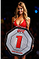 GOLD COAST, AUSTRALIA - DECEMBER 15:  UFC Octagon Girl Kahili Blundell introduces a round during the UFC on FX event on December 15, 2012  at Gold Coast Convention and Exhibition Centre in Gold Coast, Australia.  (Photo by Josh Hedges/Zuffa LLC/Zuffa LLC via Getty Images)