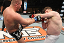LAS VEGAS, NV - DECEMBER 15:  (L-R) Matt Mitrione kicks Roy Nelson during their heavyweight fight at the TUF 16 Finale on December 15, 2012  at the Joint at the Hard Rock in Las Vegas, Nevada.  (Photo by Jim Kemper/Zuffa LLC/Zuffa LLC via Getty Images) *** Local Caption *** Roy Nelson; Matt Mitrione