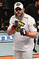 LAS VEGAS, NV - DECEMBER 15:  Roy Nelson reacts to his knockout victory over Matt Mitrione after their heavyweight fight at the TUF 16 Finale on December 15, 2012  at the Joint at the Hard Rock in Las Vegas, Nevada.  (Photo by Jim Kemper/Zuffa LLC/Zuffa LLC via Getty Images) *** Local Caption *** Roy Nelson; Shane Carwin