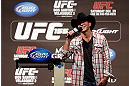 LAS VEGAS, NV - DECEMBER 28:  Donald &quot;Cowboy&quot; Cerrone interacts with fans during a Q&amp;A session before the UFC 155 weigh-in on December 28, 2012 at MGM Grand Garden Arena in Las Vegas, Nevada. (Photo by Josh Hedges/Zuffa LLC/Zuffa LLC via Getty Images)