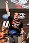 LAS VEGAS, NV - DECEMBER 28:  Todd Duffee weighs in during the UFC 155 weigh-in on December 28, 2012 at MGM Grand Garden Arena in Las Vegas, Nevada. (Photo by Josh Hedges/Zuffa LLC/Zuffa LLC via Getty Images)