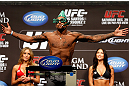 LAS VEGAS, NV - DECEMBER 28:  Michael Johnson weighs in during the UFC 155 weigh-in on December 28, 2012 at MGM Grand Garden Arena in Las Vegas, Nevada. (Photo by Josh Hedges/Zuffa LLC/Zuffa LLC via Getty Images)