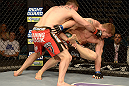 LAS VEGAS, NV - DECEMBER 29:  (L-R) Phil De Fries punches Todd Duffee during their heavyweight fight at UFC 155 on December 29, 2012 at MGM Grand Garden Arena in Las Vegas, Nevada. (Photo by Donald Miralle/Zuffa LLC/Zuffa LLC via Getty Images) *** Local Caption *** Phil De Fries; Todd Duffee