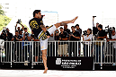 SAO PAULO, BRAZIL - JANUARY 16:  Thiago Tavares participates in an open workout session for media and fans on January 16, 2013 at Parque Anhangabau in Sao Paulo, Brazil. (Photo by Josh Hedges/Zuffa LLC/Zuffa LLC via Getty Images)