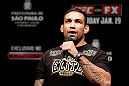 SAO PAULO, BRAZIL - JANUARY 18:  Fabricio Werdum interacts with fans during a Q&amp;A session before the UFC on FX official weigh-in event on January 18, 2013 at Ibirapuera Gymnasium in Sao Paulo, Brazil. (Photo by Josh Hedges/Zuffa LLC/Zuffa LLC via Getty Images)