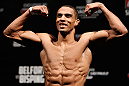 SAO PAULO, BRAZIL - JANUARY 18:  Edson Barboza weighs in during the UFC on FX official weigh-in event on January 18, 2013 at Ibirapuera Gymnasium in Sao Paulo, Brazil. (Photo by Josh Hedges/Zuffa LLC/Zuffa LLC via Getty Images)