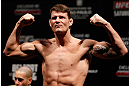 SAO PAULO, BRAZIL - JANUARY 18:  Michael Bisping weighs in during the UFC on FX official weigh-in event on January 18, 2013 at Ibirapuera Gymnasium in Sao Paulo, Brazil. (Photo by Josh Hedges/Zuffa LLC/Zuffa LLC via Getty Images)