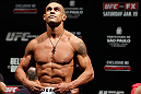 SAO PAULO, BRAZIL - JANUARY 18:  Vitor Belfort weighs in during the UFC on FX official weigh-in event on January 18, 2013 at Ibirapuera Gymnasium in Sao Paulo, Brazil. (Photo by Josh Hedges/Zuffa LLC/Zuffa LLC via Getty Images)
