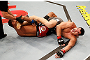 SAO PAULO, BRAZIL - JANUARY 19:  (L-R) Ildemar Alcantara secures a knee bar submission against Wagner Prado in their light heavyweight fight at the UFC on FX event on January 19, 2013 at Ibirapuera Gymnasium in Sao Paulo, Brazil. (Photo by Josh Hedges/Zuffa LLC/Zuffa LLC via Getty Images)