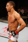 SAO PAULO, BRAZIL - JANUARY 19:  Edson Barboza reacts after knocking out Lucas Martins in their lightweight fight at the UFC on FX event on January 19, 2013 at Ibirapuera Gymnasium in Sao Paulo, Brazil. (Photo by Josh Hedges/Zuffa LLC/Zuffa LLC via Getty Images)