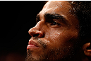 SAO PAULO, BRAZIL - JANUARY 19:  Thiago Tavares prepares to enter the Octagon before his lightweight fight against Khabib Nurmagomedov at the UFC on FX event on January 19, 2013 at Ibirapuera Gymnasium in Sao Paulo, Brazil. (Photo by Josh Hedges/Zuffa LLC/Zuffa LLC via Getty Images)