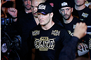 SAO PAULO, BRAZIL - JANUARY 19:  Michael Bisping enters the arena before his middleweight fight against Vitor Belfort at the UFC on FX event on January 19, 2013 at Ibirapuera Gymnasium in Sao Paulo, Brazil. (Photo by Josh Hedges/Zuffa LLC/Zuffa LLC via Getty Images)