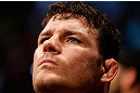 SAO PAULO, BRAZIL - JANUARY 19:  Michael Bisping prepares to enter the Octagon before his middleweight fight against Vitor Belfort at the UFC on FX event on January 19, 2013 at Ibirapuera Gymnasium in Sao Paulo, Brazil. (Photo by Josh Hedges/Zuffa LLC/Zuffa LLC via Getty Images)