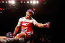 SAO PAULO, BRAZIL - JANUARY 19:  Vitor Belfort reacts after knocking out Michael Bisping in their middleweight fight at the UFC on FX event on January 19, 2013 at Ibirapuera Gymnasium in Sao Paulo, Brazil. (Photo by Josh Hedges/Zuffa LLC/Zuffa LLC via Getty Images)