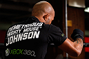 CHICAGO, IL - JANUARY 23:  Demetrious &quot;Mighty Mouse&quot; Johnson conducts an open workout session for media on January 23, 2013 at UFC Gym in Chicago, Illinois. (Photo by Josh Hedges/Zuffa LLC/Zuffa LLC via Getty Images)